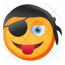 Naughty Pirate Emoji Icon