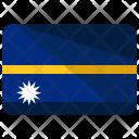 Nauru Flag Country Icon