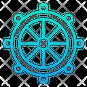 Nautica Wheel Rudder Steering Icon