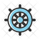 Nautical Wheel Boat Icon