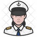 Naval Officers White Female Naval Officers Icon