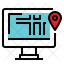 Location Map Search Monitor Map Icon