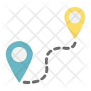 Navigation Distance Route Icon