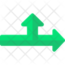 Directional Navigation Road Sign Icon
