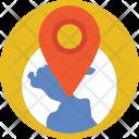 Navigation Map Globe Icon