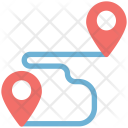 Navigation Trajectory Location Icon