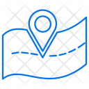 Road Navigation Map Icon