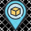 Navigation Tracking Pin Icon