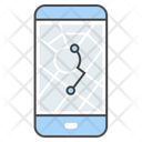 Navigation App Destination Map Icon