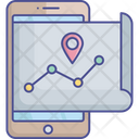 Navigation App Online Navigation Routing Icon