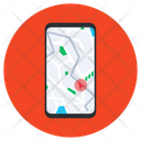 Mobile Route Tracking Route Navigation App Icon