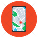 Mobile Gps Navigation App Mobile Location Icon