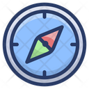 Navigation Compass Directional Instrument Geography Tool Icon