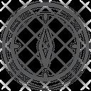 Navigation Compass Icon