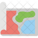 Map Navigation Roll Icon