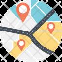 Navigation Road Tracker Icon