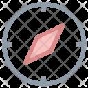 Navigational Compass Icon