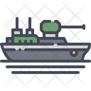 Navy Ship Vessel Icon