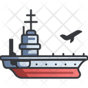Navy Carrier Sea Icon