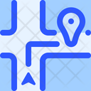 Map Navigation Near Destination Icon