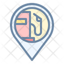 Gas Station Pin Location Icon