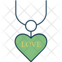 Necklace Heart Shape Girlish Icon