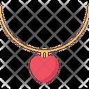 Necklace Heart Pendant Heart Icon