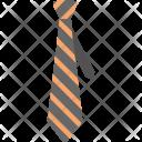 Striped Tie Necktie Icon