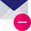 Negative Subtract Mail Icon