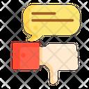 Mnegative Feedback Negative Feedback Dissatisfied Icon