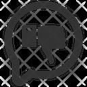 Dislike Feedback Review Icon