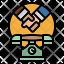 Negotiation Phone Agreement Icon