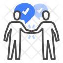 Negotiation Strategy Discussion Icon