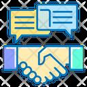 Negotiation Handshake Dialogue Icon