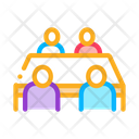 Negotiation Table Meeting Icon