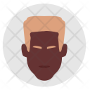 Man Negro Face Icon