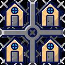 Neighbourhood Houses Suburb Icon