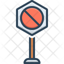 Neither Forbidden Sign Icon