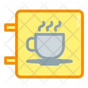 Neon Box Coffee Shop Icon
