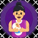 Neonate Newborn Baby Motherhood Icon