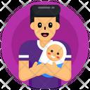 Neonate Newborn Baby Fatherhood Icon