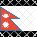 Nepal Flag World Icon