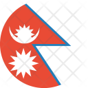 Nepal Flag World Icon