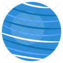 Neptune Solar System Astronomy Icon