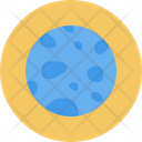 Neptune Universe Planet Icon