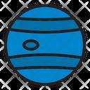 Neptune Planet Space Icon