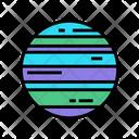 Neptune Planet Color Icon