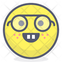Nerd Eyeglasses Face With Eyeglasses Icon