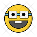 Nerd Glasses Smile Icon