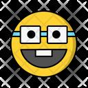 Nerd Glasses Smile Icon